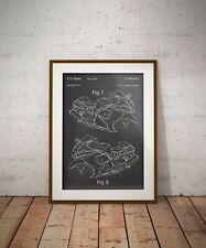 Suzuki Hayabusa GSX1300RBlueprint, Motorcycle Patent Print, Man Cave Decor,Bike