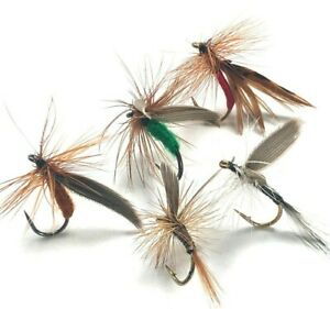 4, 6 or 8 Trout Grayling Fly Fishing DRY Flies SEDGES & QUILLS  1st Class Post