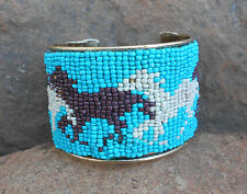 "'COWGIRL CANDY""  - BEADED HORSE CUFF BRACELET - BRAND NEW"