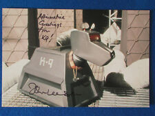 "HAND SIGNED - John Leeson - K9 - Doctor Who -1980's/1990's - Photograph -12""x8"""