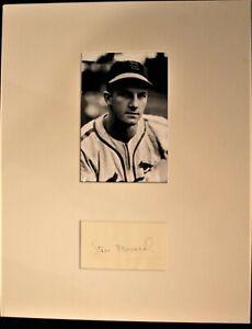 Vintage Early 1950s Stan Musial Signed Custom Matted Cut HOF D 2013 JSA