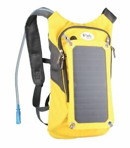 Heli Solarpack Hydro 2600 Hydration Backpack 1.8L Yellow NEW solar panel hiking