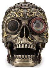 Steampunk Skull Sculpture With Movable Jaw Figurine Statue