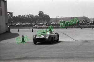 1960 CSCC racing Photo negative Ken Miles Mercedes 300 SL Santa Barbra, CA.