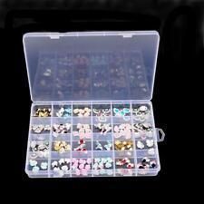 Plastic 24 Slots Adjustable Jewelry Storage Box Case Craft Organizer Beads