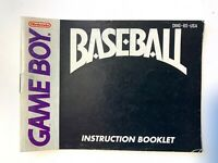 Baseball - Authentic - Nintendo Game Boy Game Instruction Manual Booklet Book