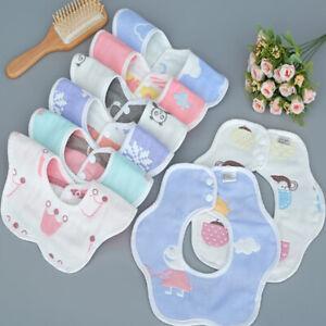 Baby Bibs 360 Degree Rotation Gauze Muslin Bandana Cloth Soft Newborn Baby S&ZY