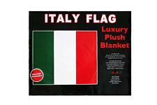 """Italy Country Flag Luxury Plush Blanket Bedspread.79"""" X 94"""" Inches"""