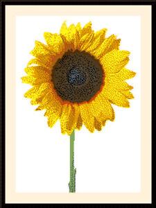 Sunflower 01, Cross Stitch Kit