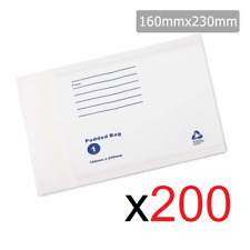 200x Bubble Padded Mail Envelopes Letter Postage Supply Mailer Shipping Post Bag