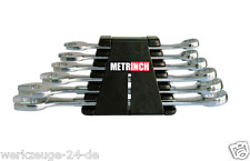 METRINCH Ring spanner set 7 piece Metric Inch Tool MET-0107