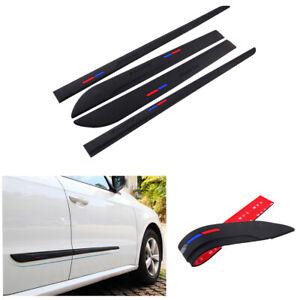 4Pcs/Set PVC Soft Rubber Car Door Body Protector Strip Stickers Scratch-proof