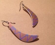 Silver 925 Pink Titanium Earrings