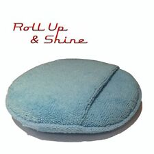 """150mm 6"""" Round Foam Filled Microfiber Applicator Pad with Pocket by Autobrite"""