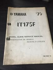 Yamaha IT175F 1979 Model Guide/Service Manual