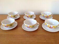 Nescafé Retro 1980's Cups & Saucers x 6 NEW