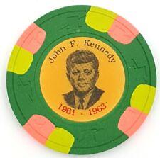 1963 John F Kennedy Memorial Poker Chip - Gold Color  Variety