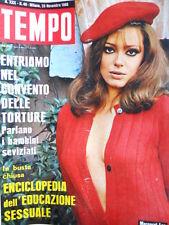 TEMPO n°48 1968 Margaret Lee - Pippo Baudo Daniela Ghibli Renata Lunari  [C87]
