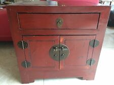CHINESE LACQUERED CABINET 59.5cm W x 49.5cm D x 60cm H