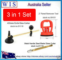 "3 in 1 Circle Cutting Glass Cutter 6 Wheels 400mm& Glass Cutter & 2"" Suction Cup"