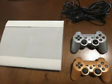 Super Slim Playstaion 3 White W/Games And Controllers.