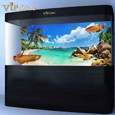 Beach PVC Aquarium Background Poster Fish Tank Decor Landscape 24 36 48 72