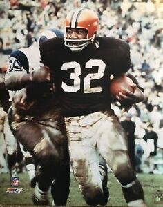 Jim Brown Cleveland Browns NFL Football 16x20 Action Photo File Licensed Hof #32