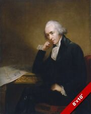 SCOTTISH INVENTOR ENGINEER JAMES WATT PORTRAIT PAINTING ART REAL CANVAS PRINT