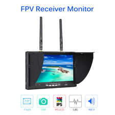 "FPV Monitor 7"" LCD Dual Diversity Receiver 5.8G 40CH DVR LT-5802S For Drone DJI"