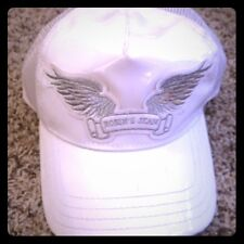 ROBIN' JEANS HAT WHITE PATENT LEATHER CAP $79.00 FREE SHIPPING