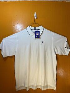 Dallas Cowboys NFL Adidas Climalite Men's XL White Short Sleeve Golf Polo Shirt