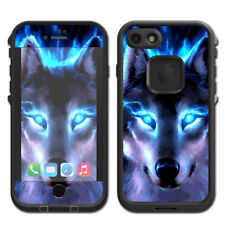 Skin Decal for Lifeproof Fre iPhone 7 Case / Wolf Glowing Eyes Fire