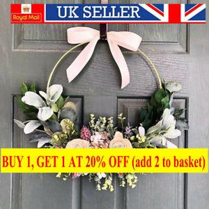 10-40cm Floral Hoop Flower Wreath Metal Hanging Hoop Wedding Party Decor