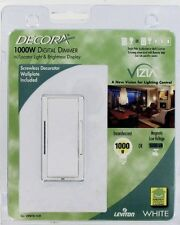 10 Leviton VZM10-1LW 1000 W Vizia Dimmer Switch White Kit + GREAT FOR LED LIGHT