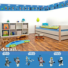 Lego Star Wars Self Adhesive Decorative Wall Border - 5 metres in total