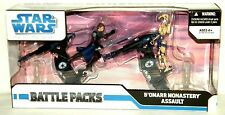 Star Clone Wars B'OMARR MONASTERY ASSAULT Anakin Battle Droid & 2 STAP Vehicles