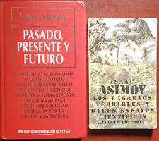 LOTE 2 LIBROS DE ASIMOV - PASADO, PRESENTE Y FUTURO + LOS LAGARTOS TERRIBLES