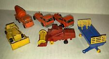 Matchbox Lesney #26 Cement 7 Refuse 40 Hay Trailer 18 Cat 65 Claas LOT of 6