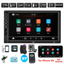 """7"""" Double 2DIN Car MP5 Player Bluetooth Touch Screen Stereo Radio USB AUX Camera"""