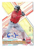 GILBERTO JIMENEZ 2019 ELITE EXTRA EDITION RED STATUS DIE-CUT AUTO #34/75 RED SOX
