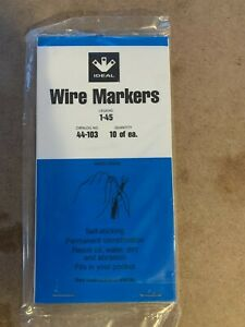 New Ideal 44-103 Wire Marker Booklet  Legend 1-45 (10 each)