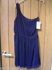 Zara Trafaluc Blue One Shoulder Dress Size L Large NEW (Tags)RRP £22.99 (Ref Z)