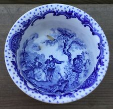 Old Vintage Masons Ironstone China Romantic Blue Small Condiment Bowl 2