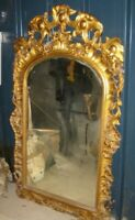 Louis XV Large Giltwood Mirror c1880 Très Rococo ,  Gorgeous Carving . CRATED.