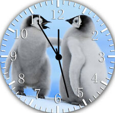 Cute Baby Penguins Borderless Wall Clock for Home Office Wall Decor F09