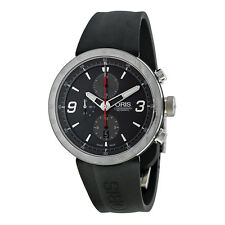 Oris TT1 Chrono Black Rubber Stainless Steel Mens Watch 01 674 7659 4163 07 4 25