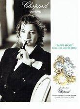 Publicité Advertising  0817  1994  montre Happy Sport  boutique Chopard