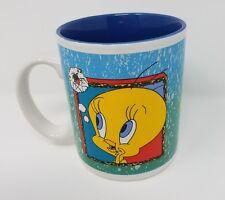 SIX FLAGS Warner Bros TWEETY BIRD  & SYLVESTER CAT Coffee Mug Cup 1994 EUC