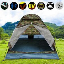 1-2 Person Camouflage Tent Outdoor Camping Hiking Camo Waterproof Backpacking