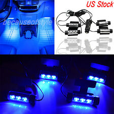 Car LED Interior Atmosphere Under Dash Floor LED Light Strip Lamp Blue